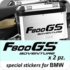 2 Adesivi Stickers BMW F 800 gs valigie adventure R GS