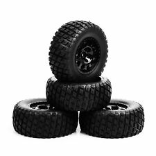 12mm Hex 1/10 Scale RC Short Course Truck Tire & Wheel 4PC For TRAXXAS SlASH