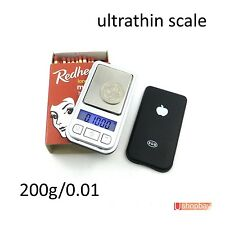 200g/0.01 Mini Jewelry Digital Black Pocket Scale Ultrathin 200gm/0.01