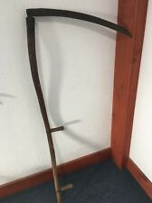 Vintage Primitive Scythe Grim Reaper Farm Antique Implement Tool Blade Metal