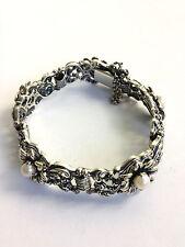 Blachian Antico gioielli (BAS) 835 Sterling Argento Vera Perla Bracciale