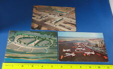 (3) Old Aviation Postcards - Airline Planes