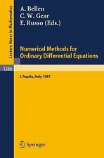 Numerical Methods for Ordinary Differential Equations : L'Aquila, Italy 1987...