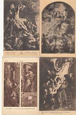 Lot 4 cartes postales anciennes BELGIQUE ANVERS ANTWERPEN cathédrale peinture