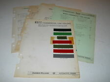 1937-1941 WHITE COMMERCIAL CAR PAINT COLOR CHIPS CHART SHERWIN WILLIAMS