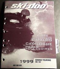 1999 SKI-DOO GRAND TOURING 500 & 583  PARTS MANUAL NEW P/N 484 400 003  (691)