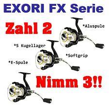 Exori FX 40 FB Angelrolle Frontbremse Schleppen Tremarella Blinkern Feederrolle