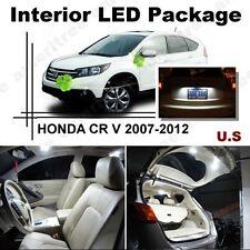 For Honda CRV 2007 - 2012 Xenon White LED Interior kit + White License Light LED