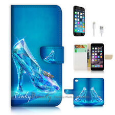 iPhone 6 (4.7') Flip Wallet Case Cover! P1787 Crystal Shoe