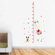 minnie mickey growth chart wall stickers for kids room home decor decal art