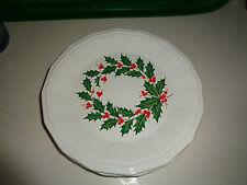 """Homer Laughlin DOVER Christmas HOLLY BERRY (3) 10"""" Dinner Plates"""