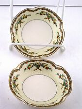 "Bowls 5"" Johnson Brothers China Pareek Riviera Crazing 1931 Dessert Berry 2pcs"