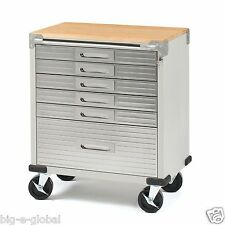 "Seville 6-Drawer Garage Rolling Storage Cabinet Tool Box Cart 5"" Caster Wheels"
