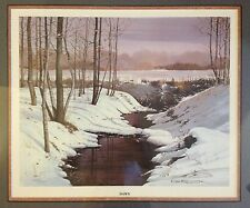 "Mel Kester ""Dawn"" Signed Limited Edition Lithograph Realist Landscape Artist"