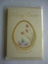 HAND MADE HAND STITCHED EASTER CARD - EASTER EGGS