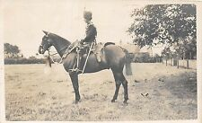POSTCARD  MILITARY    Mounted   Hussar  Regiment  Unknown