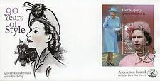 ISOLA di ascensione 2016 FDC Regina Elisabetta II 90th Compleanno 1v S/S COPERCHIO FRANCOBOLLI