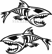 2 Aufkleber Angry Fish Fisch Auto Sticker Decal 29  Cm Tuning JDM