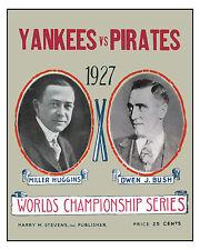 1927 World Series - (Yankees & Pirates) Poster of Series Program - 8x10 Photo