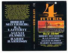 4 FUTURES - 1970s unbound promotional cover - Isaac Asimov, Harry Harrison