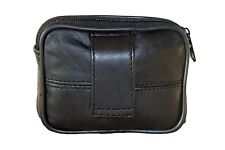 Soft Leather Belt Pouch Ideal For Money , Keys , Cards
