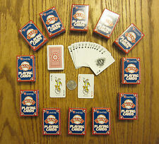 24 NEW DECKS OF MINI PLAYING CARDS MINITURE PLASTIC COATED TINY POKER CARD DECK