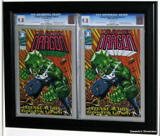 double CGC Comic Book Display Frame. Black Plastic molding custom. Holds 2 books