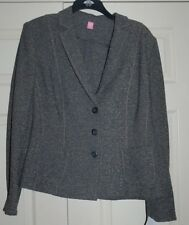 New Sz 20 Designer Basler Single-Breasted Suit Style Unlined Grey Waist Jacket