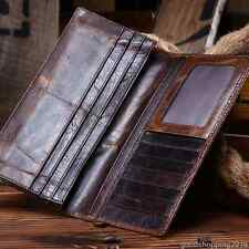 Luxury Women Men Genuine Leather Wallet Cowhide Purse Bifold Card Holder