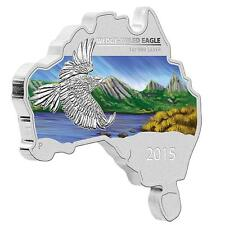 2015 $1 Australian Map Shaped Wedge-Tailed Eagle 1oz Silver Proof Coin No:153
