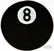 8-BALL iron-on MOTORCYCLE BIKER PATCH embroidered eight APPLIQUE BILLIARDS POOL