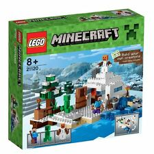 LEGO Minecraft The Snow Hideout Set 21120 w Steve, Creeper, Snow Golem