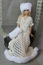 "Snow queen dress handmade outfit for Tonner doll Cami Antoinette Body 16"" OOAK"