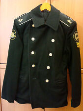 Russian Naval Pea Coat Jacket BUSHLAT Seaman Sailor Kadet Soviet Fleet Navy RARE