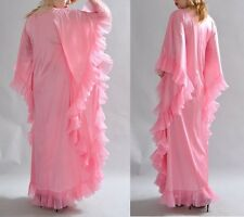 VINTAGE VANITY FAIR SILKY PLEATED COCOON NIGHTGOWN PEIGNOIR like Lucie Ann