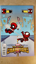 CONTEST OF CHAMPIONS #1 1ST PRINT GAME VARIANT MARVEL (2015) DEADPOOL SPIDER-MAN