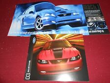 2003 FORD MUSTANG GT, MACH I, CONVERTIBLE, Etc. 18-p. BROCHURE, SALES CATALOG
