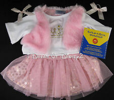 PRINCESS TIARA PINK VEST, SEQUIN SKIRT SET BUILD-A-BEAR TEDDY CLOTHES OUTFIT NEW