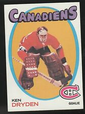 1971-72 TOPPS #45 KEN DRYDEN MONTREAL CANADIANS ROOKIE HOCKEY CARD EX/MT NM