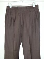 Mint$375 32x31 Mens Caracciolo Choc Brown Cashmere Wool Pants ITALY 50 Nordstrom