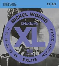 3 x D'Addario EXL115 Electric Guitar Strings 11-49.3 SEPARATE PACKETS
