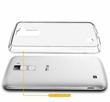 For LG K10 / Premier LTE Clear Case Hybrid Protective Silicone Soft Phone Cover