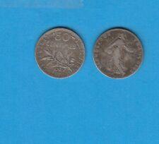 ++Gertbrolen 50 Centimes argent  type Semeuse 1909   Exemplaire numéro 1