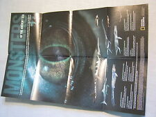 MONSTERS OF THE ANCIENT SEA MAP/SUPPLEMENT/POSTER National Geographic Dec. 2005