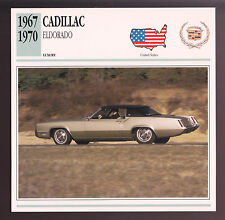 1967-1970 Cadillac Eldorado Car Photo Spec Sheet Info Stat ATLAS CARD 1968 1969