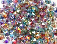 144 SWAROVSKI Crystal Rhinestones FlatBack nail art Color AB MIX 9ss 2.6mm