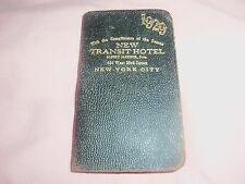 1929 NEW TRANSIT HOTEL NEW YORK CITY DAY PLANNER - 464 W. 23rd St. w/ PICTURE