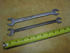 1930s ERA CRAFTSMAN UNDERLINE LOGO LONG THIN TAPPET WRENCHES RAT ROD TOOLS 9/16-