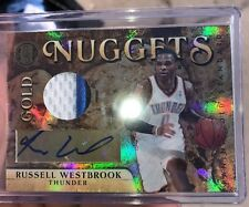 10/11 Panini Gold Standard Russell Westbrook Prime 3 Color Patch Auto #24/25 Mvp
