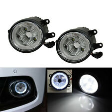 18W High Power 6-LED Fog Light Lamps w/ LED Angel Eyes For Ford Focus Suburu BRZ